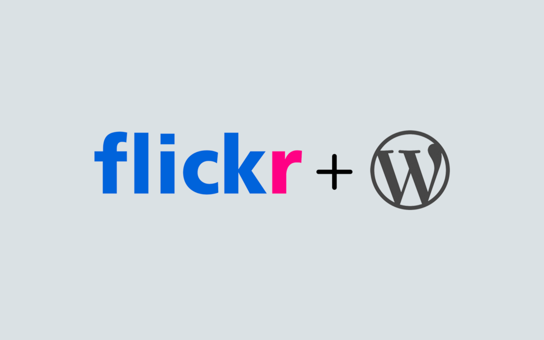 Cómo colocar un álbum de Flickr en WordPress