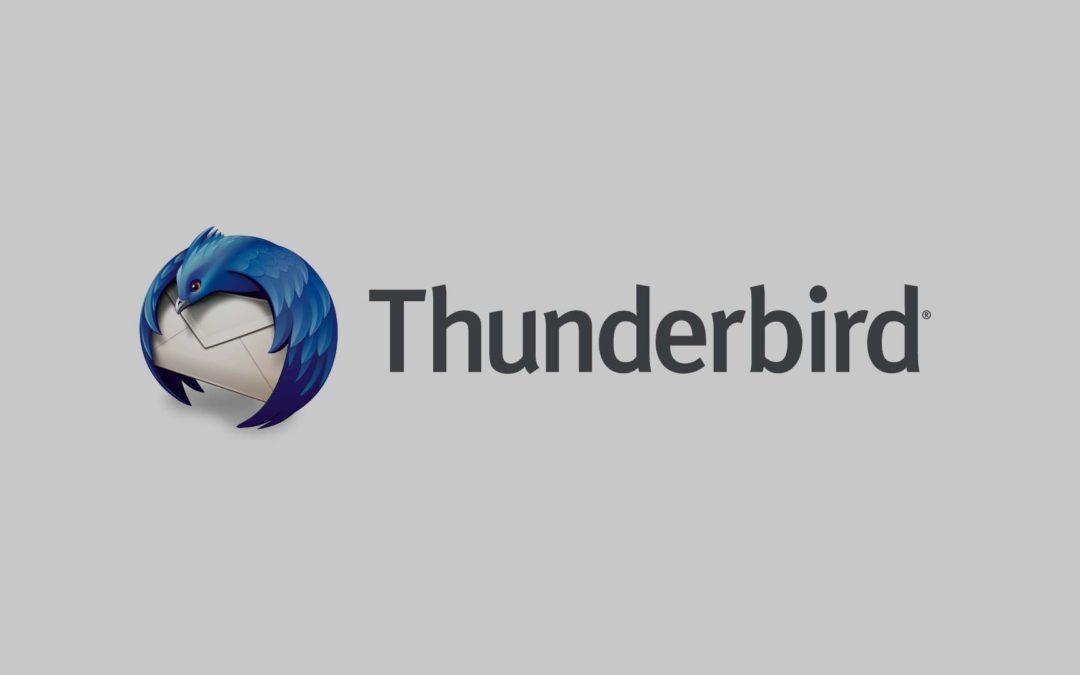Como configurar correos electrónicos en Thunderbird