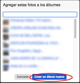 crear nuevo album flickr