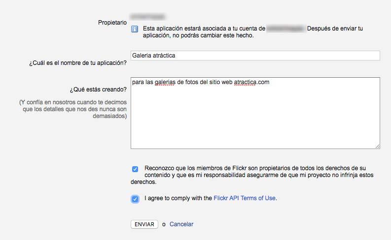 paso 3 api flickr plugin wordpress