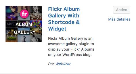 wordpress flickr album gallery