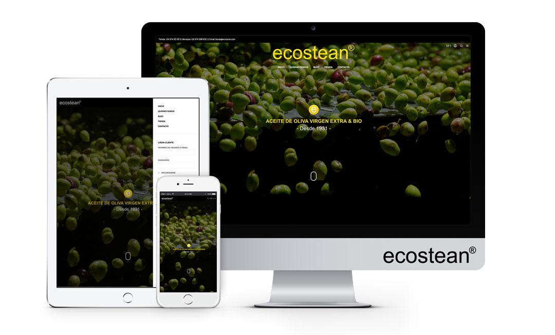 ecostean aceite oliva somontano web mockup