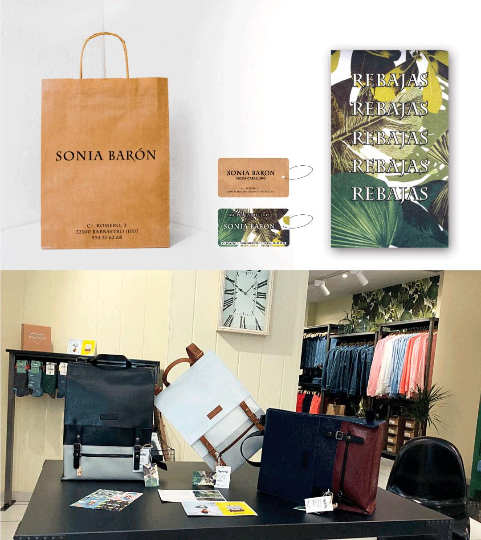Bolsas etiquetas carteles SONIA BARON